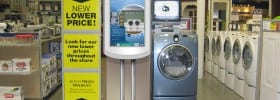 Ecast Interactive Retail Display for Whirlpool Corp