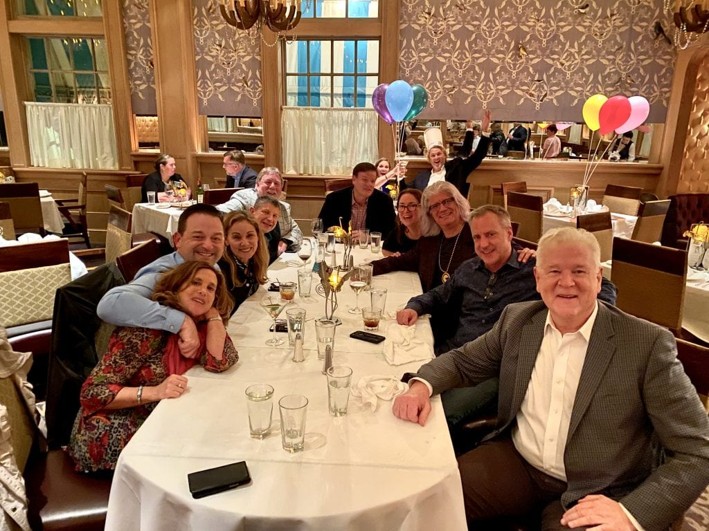Bob and friends at Commanders Palace at Amusement Expo